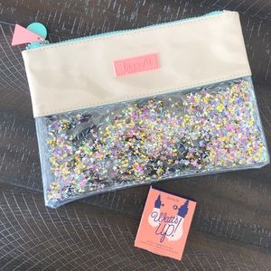 Benefit confetti zip pouch and Watts Up Deluxe